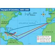 Christopher Columbus Voyage Route Map