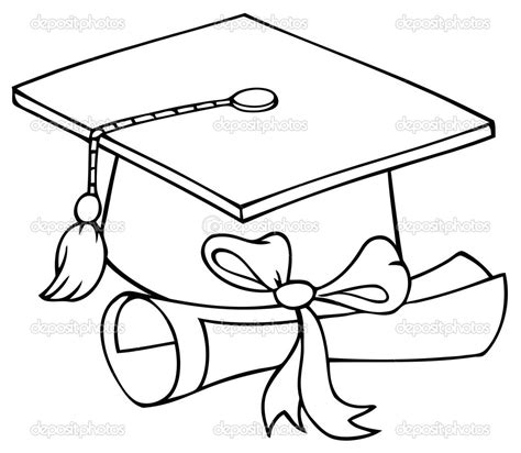 coloring page graduation how to draw a graduation cap search grad cards