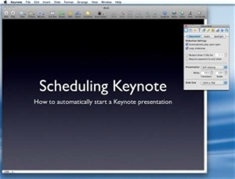 apple keynote powerpoint template how to automatically start a keynote presentation