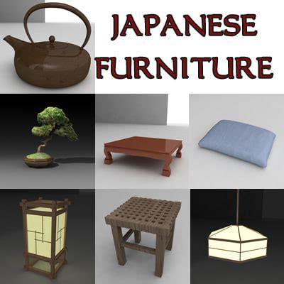 japanese furniture japanese style furniture japan furniture japanese 3d model