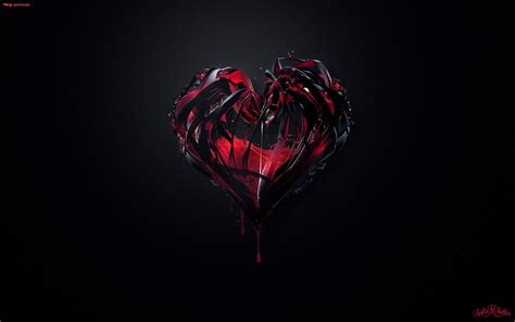 wallpaper dark heart gothic love wallpaper wallpapers and pictures