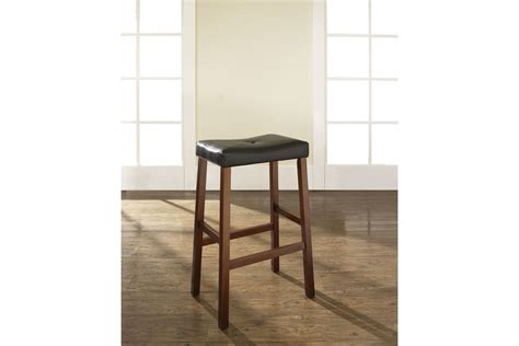 Bar Stools 29 Seat Height by Upholstered Saddle Seat Bar Stool In Classic Cherry With