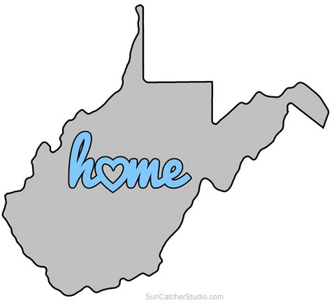 west virginia map outline printable state shape