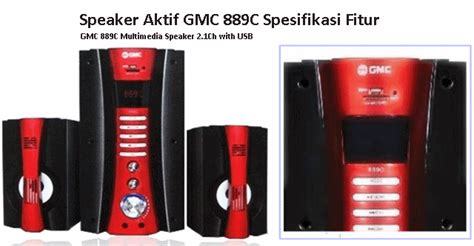 Dan Spesifikasi Speaker Gmc Bluetooth harga speaker aktif gmc 889c bluetooth karaoke radio