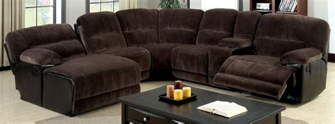 The Living Room Furniture Store Glasgow - furniture of america cm6822 glasgow reclining sectional