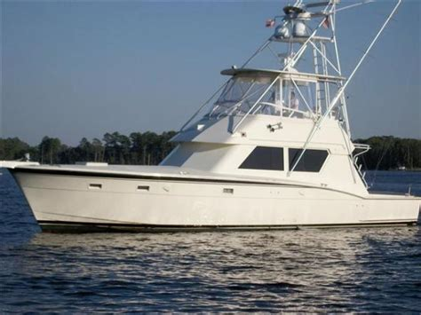 52 ft boat used hatteras 520 convertible yachts for sale