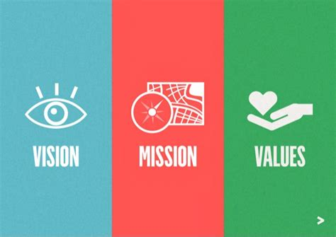 vision mission values vision mission and values