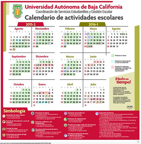 Calendario Uabc Calendario Uabc Biolog 237 A