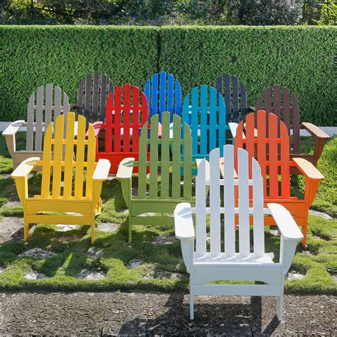 Colorful Adirondack Chairs by Colored Plastic Adirondack Chairs Home Furniture Design