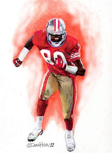49ers Sketches by Jerry Rice San Francisco 49ers Drawing By Dean Huck