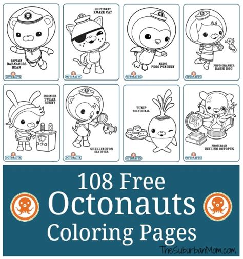 free coloring pages of octonauts vegimal