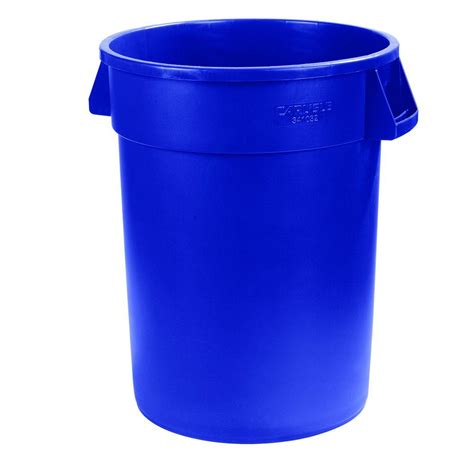 genuine joe 32 gal blue heavy duty trash can