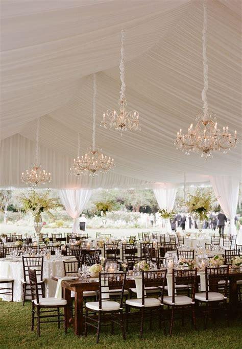 outdoor wedding chandelier wedding decorations 40 ideas to use chandeliers