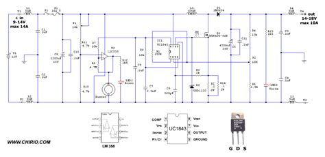 schemi alimentatori switching alimentatore switching step up 12v 10a by roberto chirio