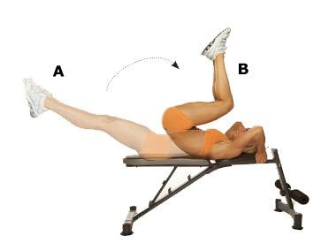 crunches on bench reverse crunch on bench these are great for your core