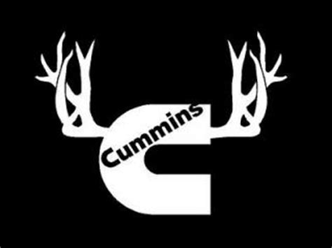 Camo Wall Stickers cummins window decal with antlers 9 inch