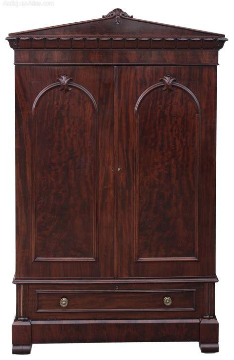 linen armoires william iv mahogany armoire wardrobe linen press