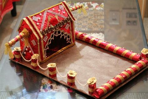 First wedding card tray   Trousseau packing   Diy wedding