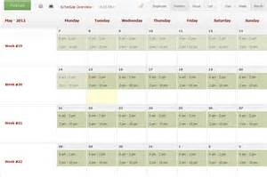 how to make a work schedule calendar template 2016