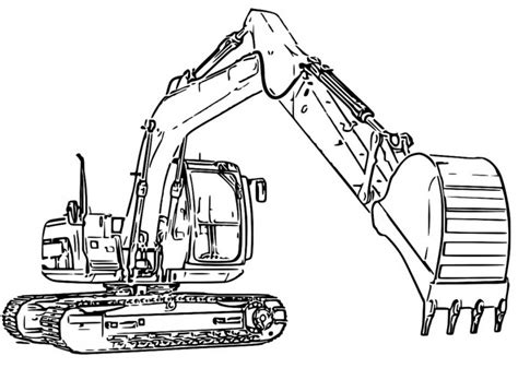 coloring pages of excavators excavator coloring book coloring pages
