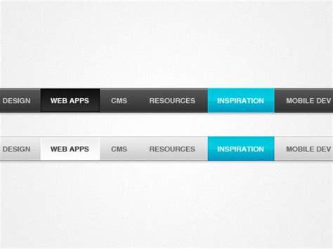 design menu horizontal slick horizontal menu psd file free download