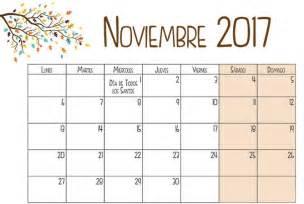 calendario noviembre 2017 para imprimir calendario 2018