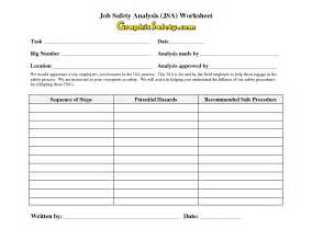 Jsa Template by 14 Best Images Of Safety Analysis Template Worksheet