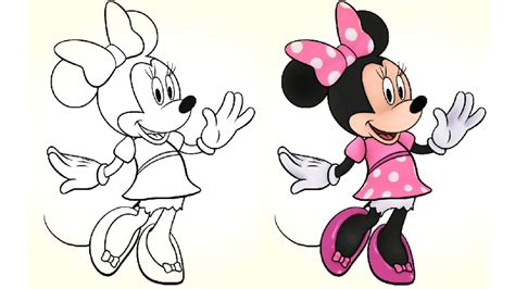 minnie mouse colors minnie mouse colouring jake and the neverland
