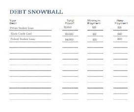 debt snowball worksheet printable search results