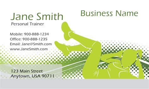 athletic business card template athletic personal trainer business card design 801081