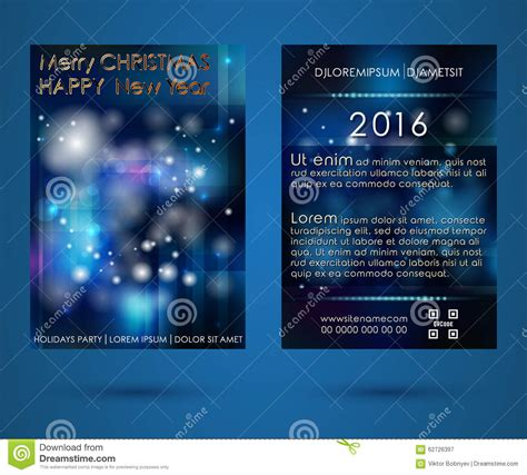 templates brochure happy new year brochure new year stock vector image of decor event