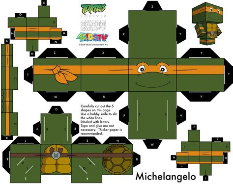 Turtle Papercraft - turtles michael angelo papercraft