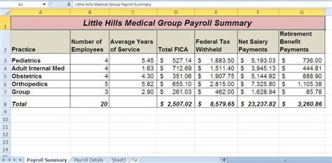 Payroll Worksheet by Logical And Lookup Functions