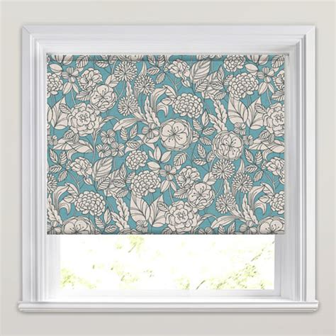 retro patterned roller blind vintage floral patterned roller blinds in rich blue off