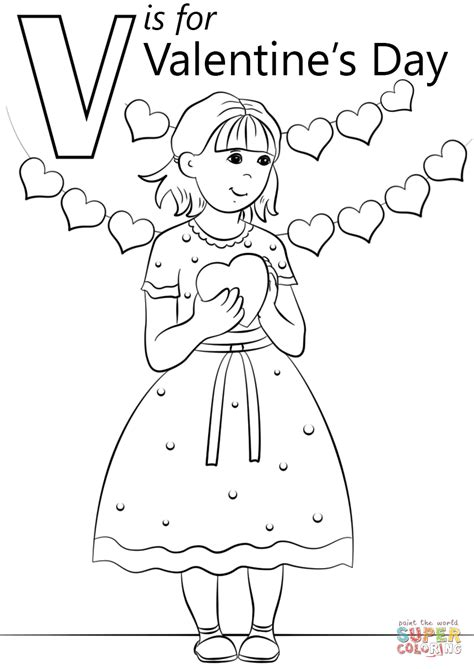 valentines day coloring pages v is for s day coloring page free printable