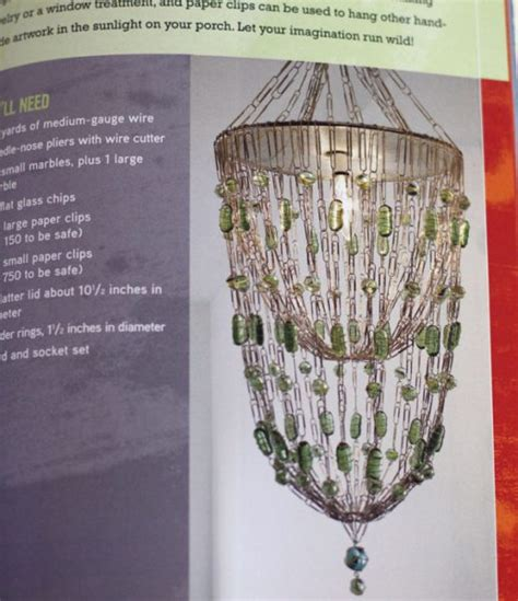 Paperclip Chandelier Review The Big Book Of Crafts 2 187 Dollar Store Crafts