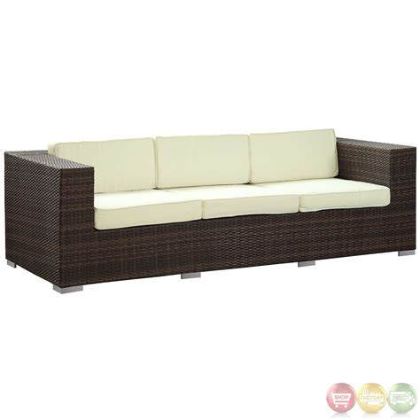 outdoor wicker sofas daytona modern outdoor wicker patio sofa with water and uv