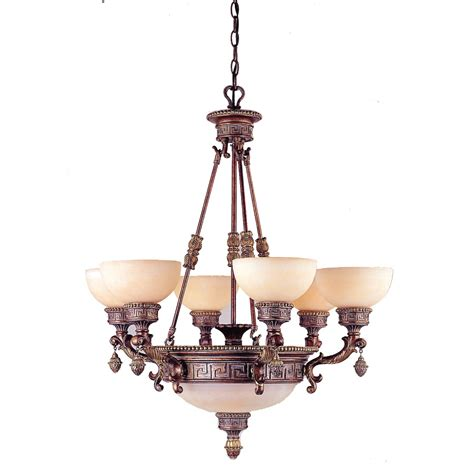 Copper Chandelier Shop Portfolio Taste Of Elegance 9 Light Lincoln Copper Chandelier At Lowes