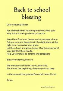 prayer for the new school year a prayer for all the students returning to school this