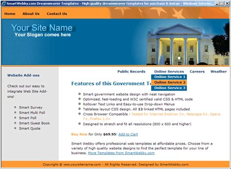 free web templates for government website government web template