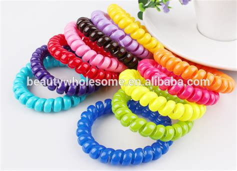 Rubber Fabric Hair Tie multicolor fabric material hair rubber band h0t044