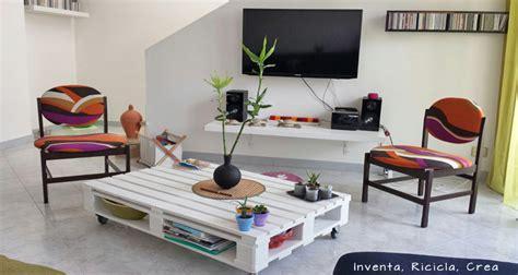 Creare Con I Bancali by Riciclare Pallet Di Legno Per Il Soggiorno Inventa