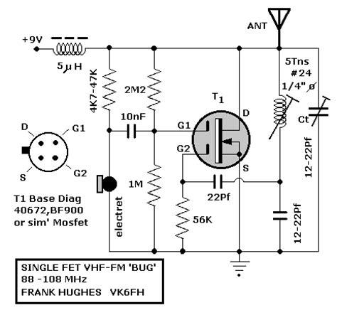 mosfet transistor oscillator tek fetle yapilan fm verici