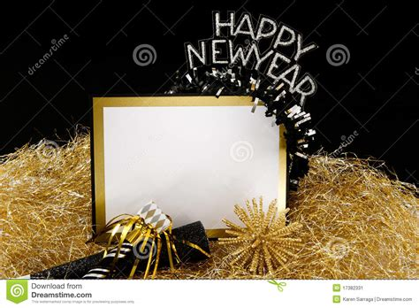 black and gold new years happy new year sign in black and gold stock image image