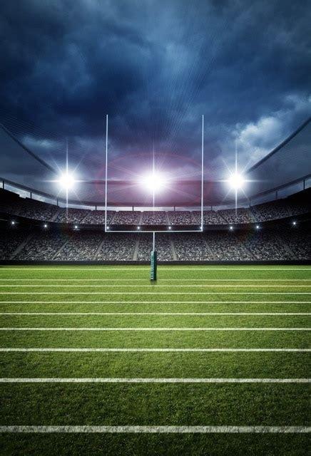 laeacco bright american football stadium cloudy sky photography backgrounds custom photo