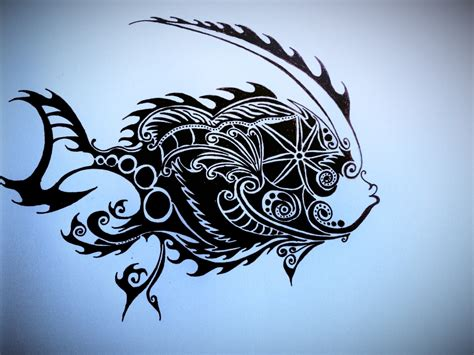 mechanical tribal tattoo mechanical fish tribal by jaguarcliff on deviantart