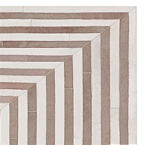 Pieced Hide Rug Concentric Pieced Hide Rug Ivory Williams Sonoma