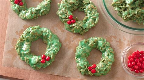 no bake christmas wreath cookies recipe bettycrocker com