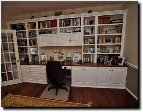 Home Office Wall Desk Office Desk With Bookshelves Home Ideas