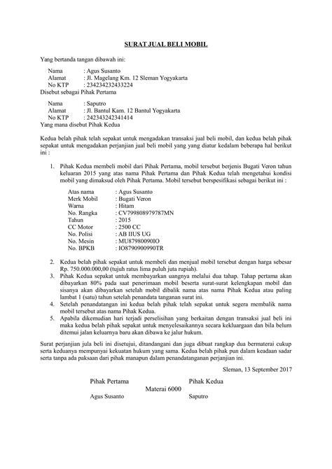 format surat kuasa jual beli contoh artikel hukum zentoh